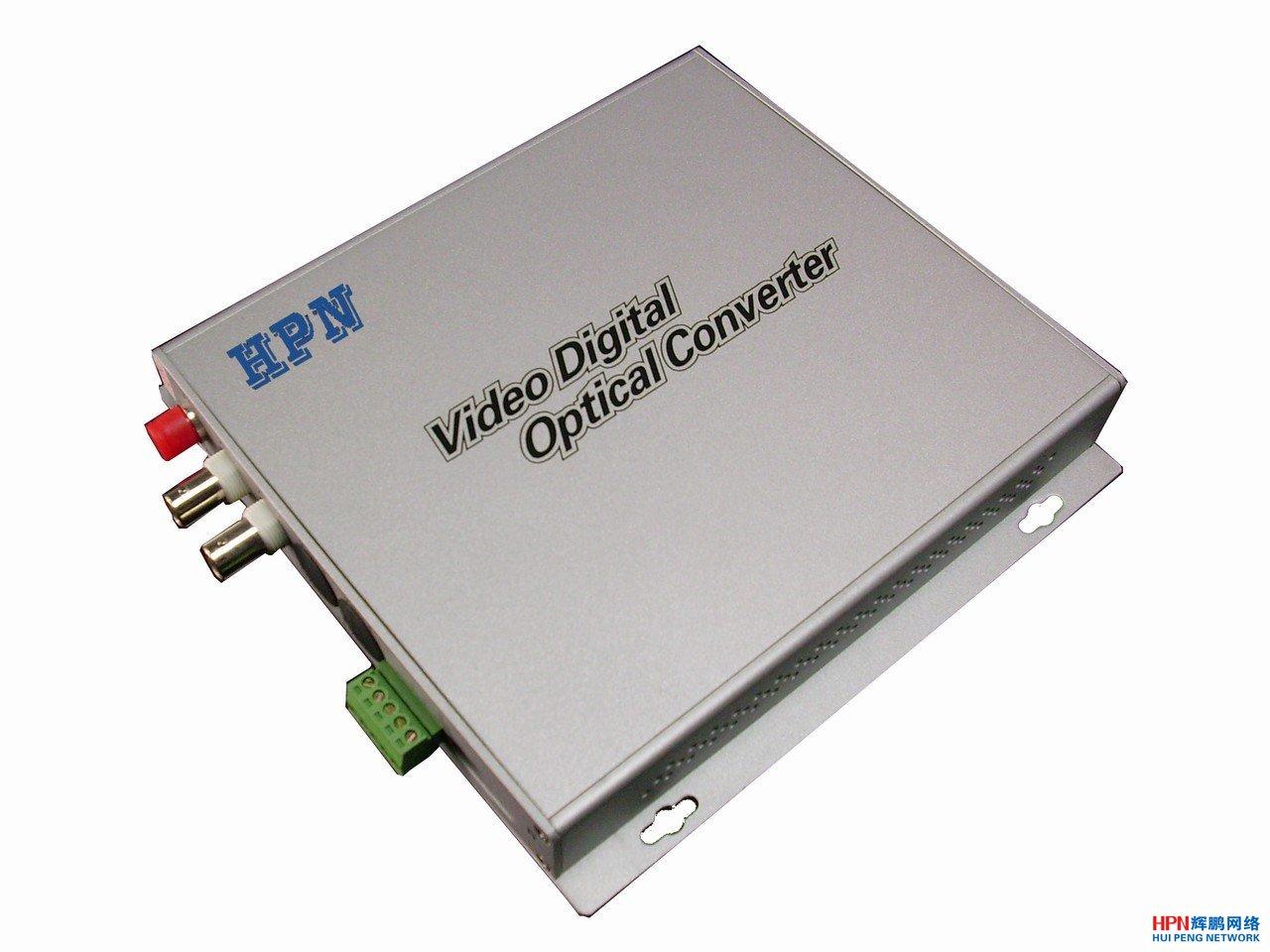 HPN2路纯视频光端机_监控光端机