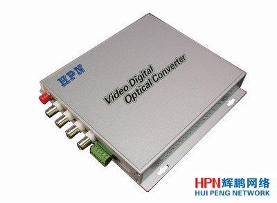 HPN4路正向视频+1路反向控制光端机