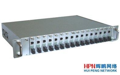 HPN-17槽网管型光纤收发器机架_收发器网管机架